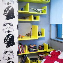 Фотография: Декор в стиле Скандинавский, Современный, Эклектика, Детская, Квартира, Дома и квартиры, Стеллаж, Геометрия в интерьере – фото на InMyRoom.ru