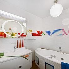 Фото из портфолио Дизайн яркой ванной комнаты – фотографии дизайна интерьеров на InMyRoom.ru