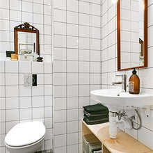 Фотография: Ванная в стиле Современный, Скандинавский, Декор интерьера, Квартира, Цвет в интерьере, Дома и квартиры, Белый, Индустриальный – фото на InMyRoom.ru