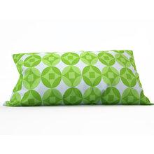 Декоративная подушка: Зеленые круги