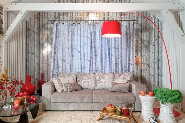 Фотография: Гостиная в стиле Скандинавский, Эклектика, Интерьер комнат, Мансарда – фото на InMyRoom.ru