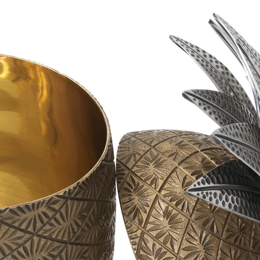 Коробка Pineapple цвета состаренной латуни фото