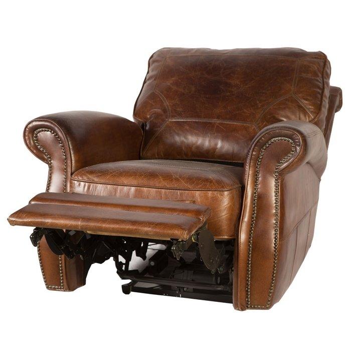 Кожаное кресло-реклайнер Преферанс