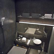 Фотография: Ванная в стиле Лофт, Квартира, Дома и квартиры, Индустриальный – фото на InMyRoom.ru