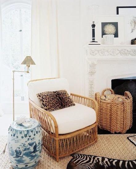 Фотография: Гостиная в стиле Эклектика, Декор интерьера, Декор дома, Плетеная мебель – фото на InMyRoom.ru