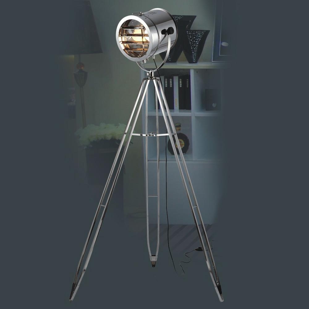 Прожектор-тренога из металла стального цвета