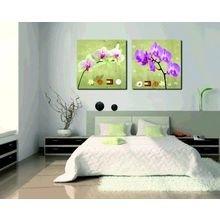 Декоративная картина на холсте: Одинокие орхидеи