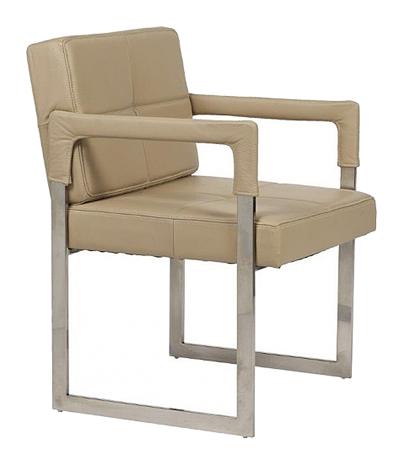 Кресло Aster Chair бежевая кожа класса премиум