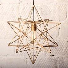 Лампа с ретролампочкой «Звезда» золотая