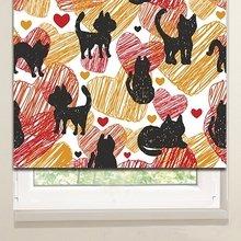Рулонные шторы: Заштрихованные коты