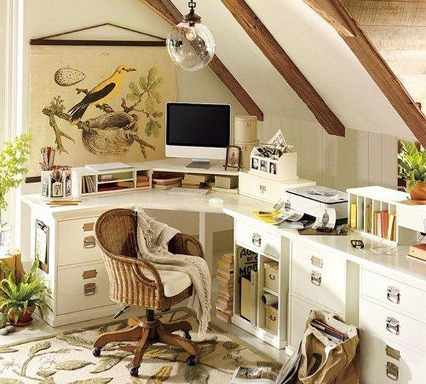 Фотография: Офис в стиле Прованс и Кантри, Дом, Чердак, Мансарда – фото на InMyRoom.ru