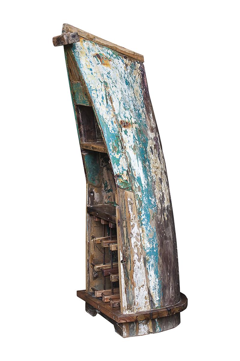 Купить Винный шкаф малый кусто из старой рыбацкой лодки, inmyroom, Индонезия