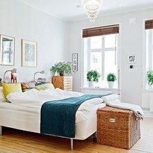 Фотография: Спальня в стиле Скандинавский, Декор интерьера, Дом, Интерьер комнат, Мебель и свет – фото на InMyRoom.ru
