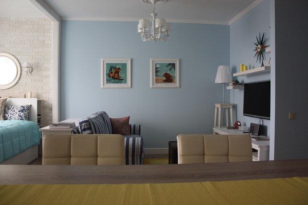 Фотография: Гостиная в стиле Современный, Малогабаритная квартира, Квартира, Дома и квартиры, Ремонт – фото на InMyRoom.ru