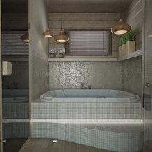 Фото из портфолио Баня-временный дом – фотографии дизайна интерьеров на InMyRoom.ru