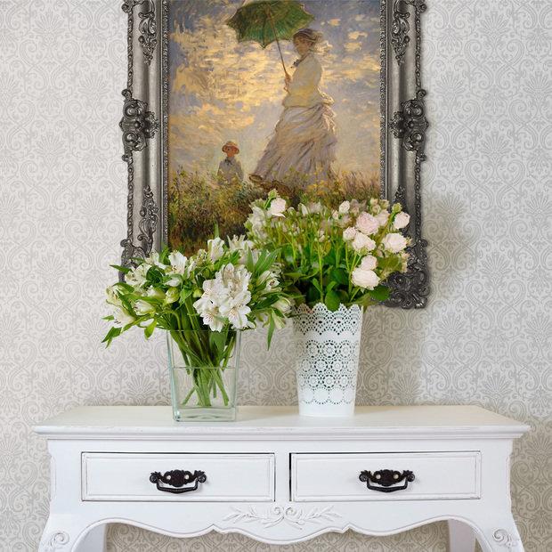 Фотография: Декор в стиле Прованс и Кантри, Гостиная, Интерьер комнат, Картины, Зеркало – фото на InMyRoom.ru