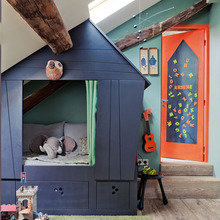 Фотография: Детская в стиле Скандинавский, Квартира, Дома и квартиры, Париж, Чердак – фото на InMyRoom.ru