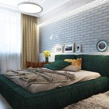 Фотография: Спальня в стиле Современный, Эклектика, Квартира, Минимализм, Проект недели – фото на InMyRoom.ru