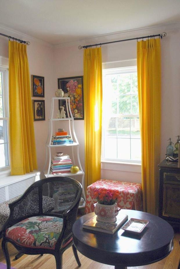 Фотография: Гостиная в стиле Прованс и Кантри, Декор интерьера, Дизайн интерьера, Цвет в интерьере, Желтый – фото на InMyRoom.ru