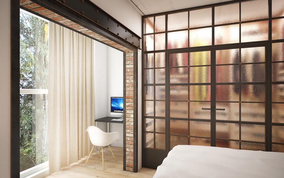 Фотография: Спальня в стиле Лофт, Эклектика, Квартира, Проект недели, ИКЕА, Circle Line – фото на InMyRoom.ru