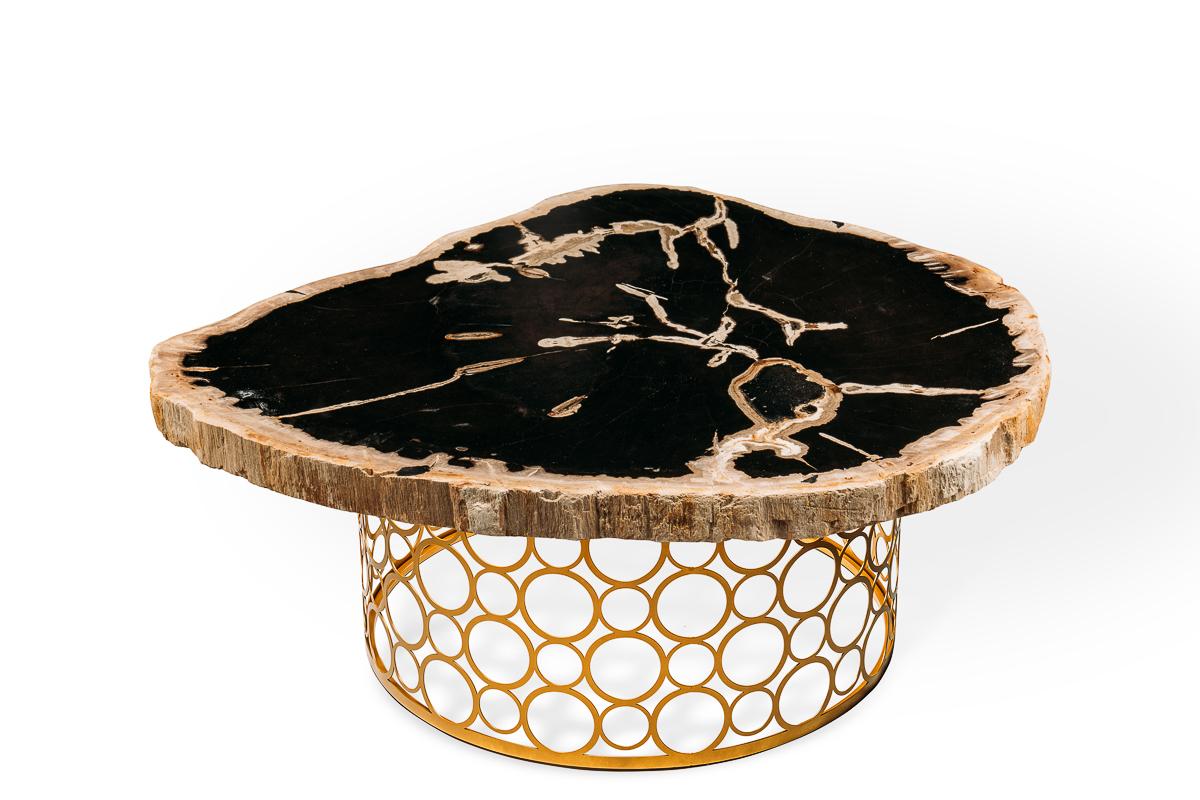 Журнальный столик из бревна фото стиль кэжуал