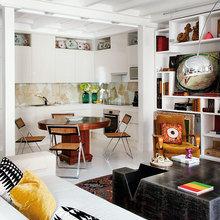 Фотография: Гостиная в стиле Эклектика, Кухня и столовая, Стиль жизни, Советы, Стол – фото на InMyRoom.ru