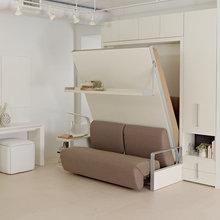 Фотография: Прихожая в стиле Современный, Советы, Бежевый, Серый, Мебель-трансформер, кровать-трансформер, диван-кровать – фото на InMyRoom.ru