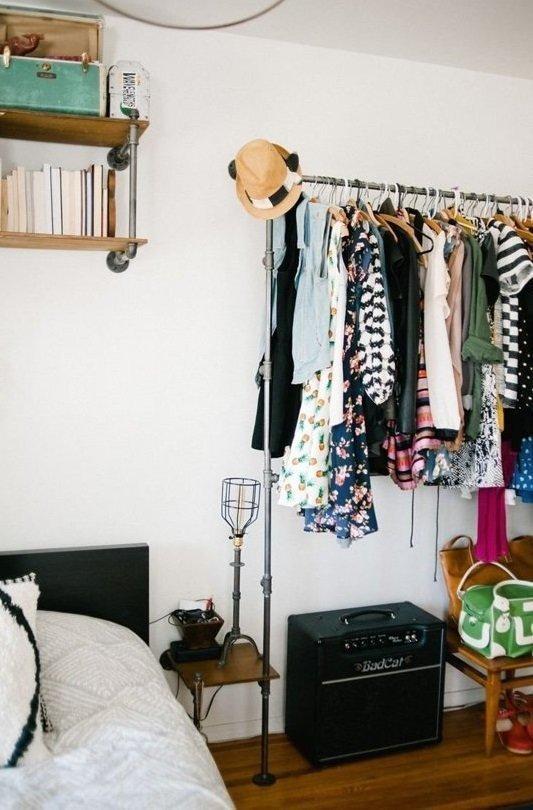 Фотография: Спальня в стиле Скандинавский, Гардеробная, Советы – фото на INMYROOM