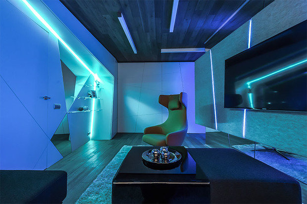 Фотография: Гостиная в стиле Современный, Декор интерьера, Интерьер комнат, Хрущевка – фото на InMyRoom.ru