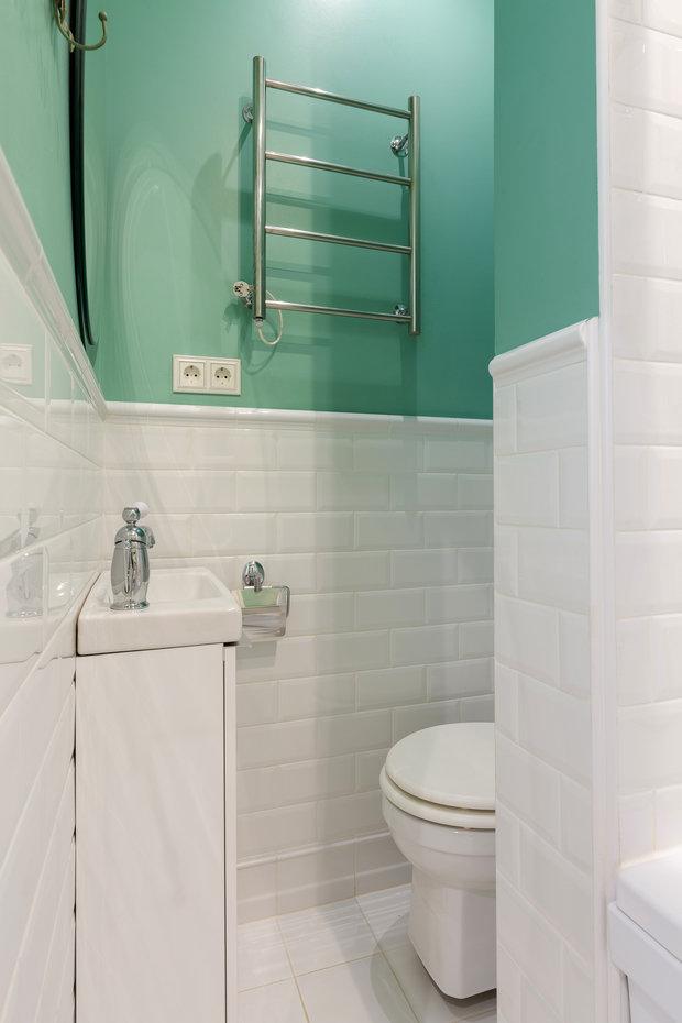 Фотография: Ванная в стиле Классический, Эклектика, Квартира, Проект недели, Санкт-Петербург, Кирпичный дом, 2 комнаты, 40-60 метров, Светлана Оленбург – фото на INMYROOM