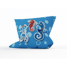 Декоративная подушка: Медуза на прогулке
