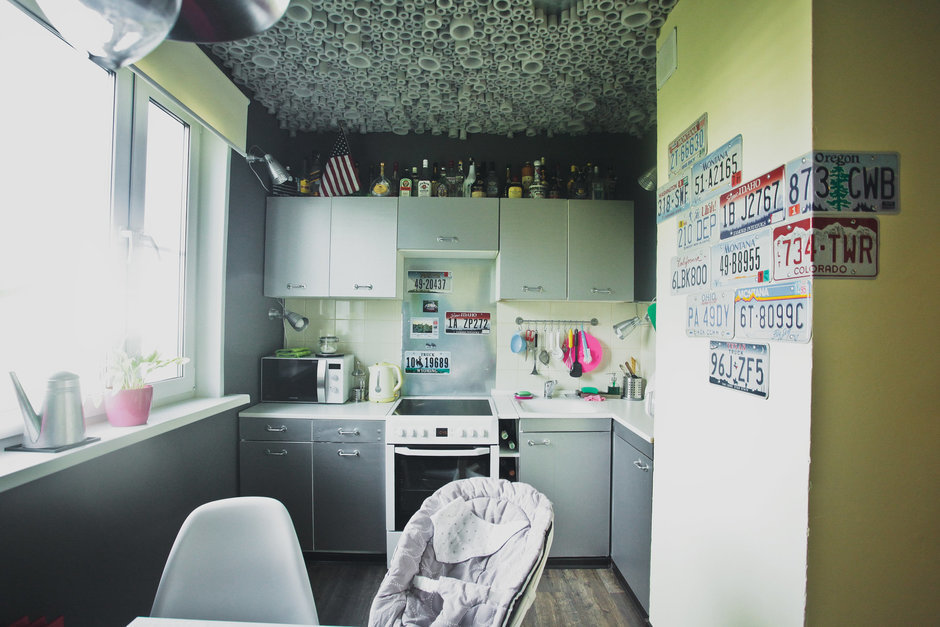 Фотография: Кухня и столовая в стиле Лофт, DIY, Квартира, Дома и квартиры, IKEA – фото на InMyRoom.ru