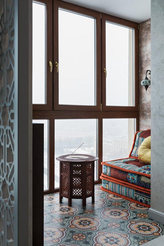 Фотография: Балкон в стиле Восточный, Квартира, Студия, Проект недели, Минск, Ольга Беркова, 40-60 метров – фото на INMYROOM