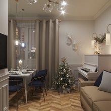 Фото из портфолио Кухня-гостиная 18 кв.м. – фотографии дизайна интерьеров на INMYROOM