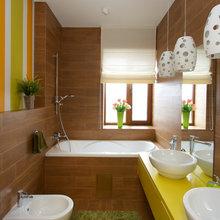 Фотография: Ванная в стиле Современный, Дом, Планировки, Мебель и свет, Дома и квартиры, Мансарда – фото на InMyRoom.ru