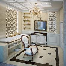 Фотография: Ванная в стиле Классический, Скандинавский, Интерьер комнат, Марокканский – фото на InMyRoom.ru