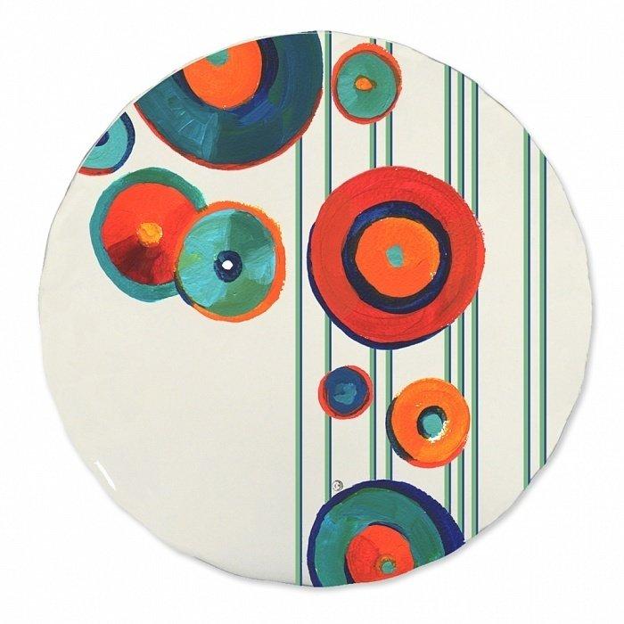 Тарелка Круги №1 с ажурным краем