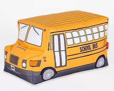 Пуф мягкий с принтом Woouf! School Bus в виде автобуса