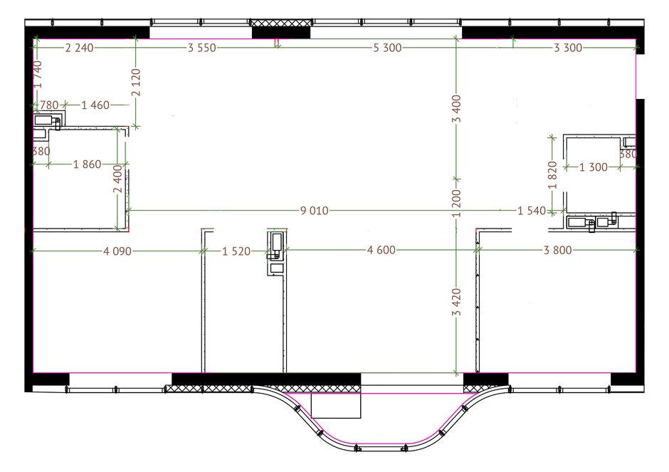 Обмерный план, 4-комнатная квартира в ЖК «Символ», 116 кв. м