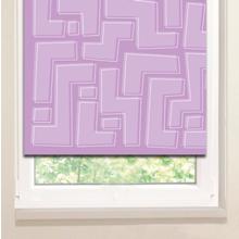 Рулонные шторы на пластиковые окна: Сиреневый лабиринт