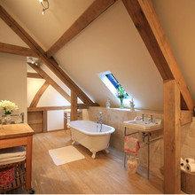 Фотография: Ванная в стиле Кантри, Лофт, Дизайн интерьера, Чердак, Мансарда – фото на InMyRoom.ru