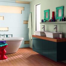 Фотография: Ванная в стиле Кантри, Декор интерьера, Дизайн интерьера, Цвет в интерьере, Советы, Dulux, Синий – фото на InMyRoom.ru