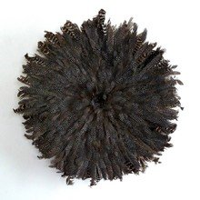 Камерунская шляпа  большая (75 см) Из перьев цесарки