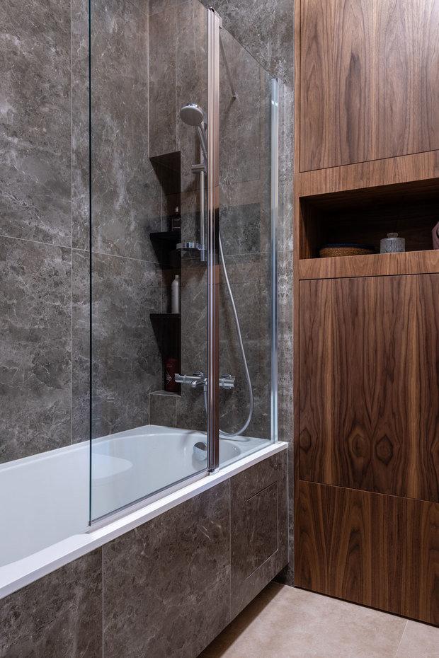Фотография: Ванная в стиле Лофт, Квартира, Студия, Проект недели, Москва, Кирпичный дом, 40-60 метров, Юлия Сологубова – фото на INMYROOM