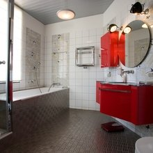 Фотография: Ванная в стиле Современный, Дом, Дома и квартиры, Ар-деко – фото на InMyRoom.ru