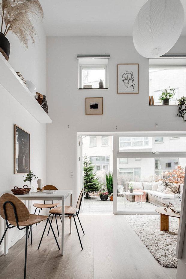 Фотография: Гостиная в стиле Скандинавский, Декор интерьера, Квартира, Белый, Минимализм, Бежевый, до 40 метров – фото на INMYROOM
