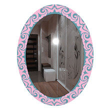 "Зеркало с рисунком ""Розовая Виринея"""