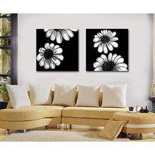 Декоративная картина: Цветочный инь ян