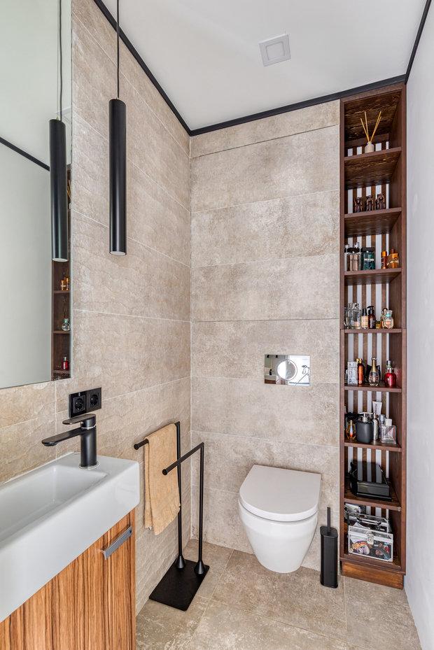 Фотография: Ванная в стиле Современный, Квартира, Проект недели, Москва, 3 комнаты, 40-60 метров, Юлия Левина – фото на INMYROOM