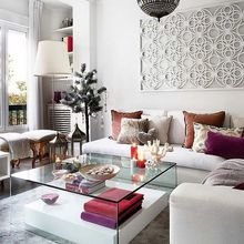 Фотография: Гостиная в стиле Эклектика, Восточный, Декор интерьера, Декор, марроканский стиль в интерьере, марокканский стиль – фото на InMyRoom.ru